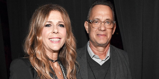 Rita Wilson and Tom Hanks in January 2019.