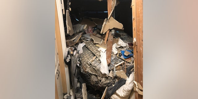 """The damage to the home rendered the residence """"uninhabitable,"""" fire officials said."""