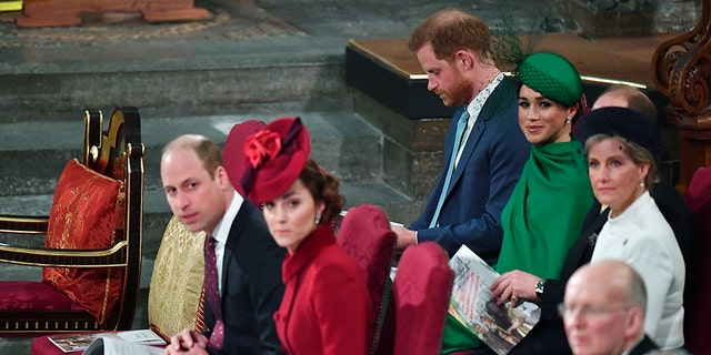 Tensions were running high between the Duke and Duchess of Cambridge and the Sussexes at the annual Commonwealth Service at Westminster Abbey.
