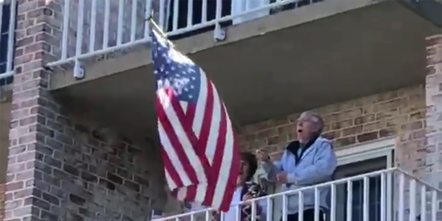 "Residents at the Willow Valley Communities in Lancaster, Pa. were videoed over the weekend singing ""God Bless America"" on their balconies."