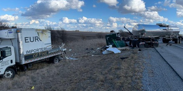 A second crash was reported a mile down the interstate shortly after the initial crash.