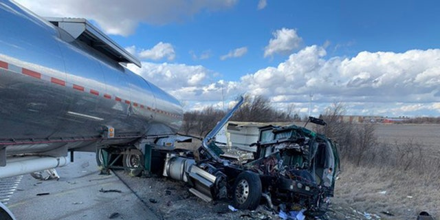 The highway was closed for several hours after the crash.
