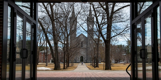 The Bowdoin College campus is nearly empty during spring break, Wednesday, March 11, 2020, in Brunswick, Maine. The school has announced that it's asking students not to return to campus following spring break and will hold classes online due to concerns about the coronavirus. Maine still has no confirmed cases of coronavirus.