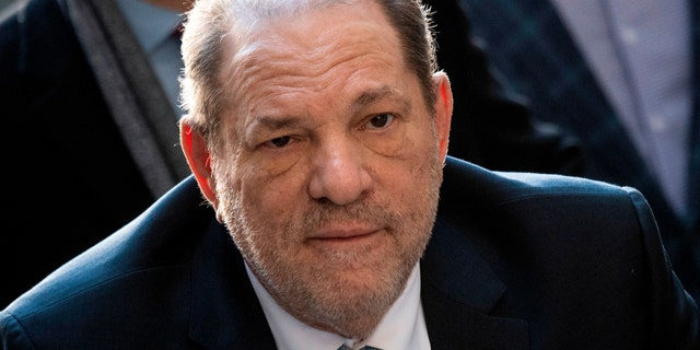 Harvey Weinstein arrives at the Manhattan Criminal Court, on February 24, 2020 in New York City.
