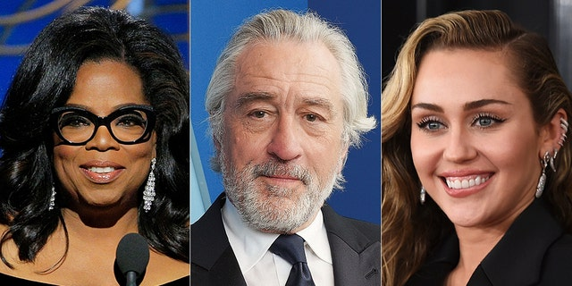 Oprah Winfrey, Robert De Niro and Miley Cyrus are among the celebrities to make content from their homes amid the coronavirus pandemic.