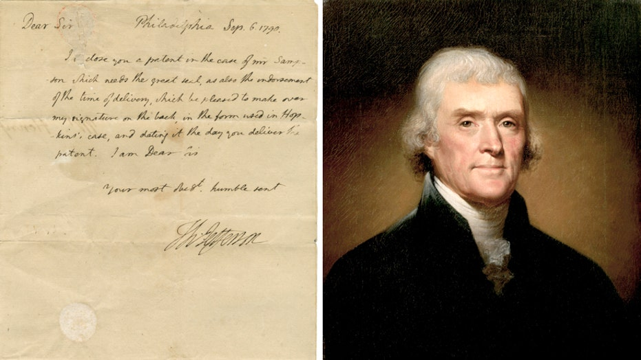 Previously Unknown Thomas Jefferson Letter Surfaces Fox News