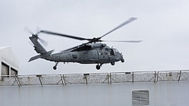 Navy helicopters deliver respirators to protect crew aboard USNS Comfort