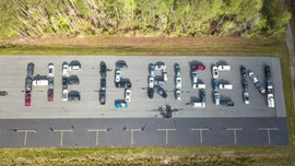 Virginia cars line up just right to 'share love' with special Easter message