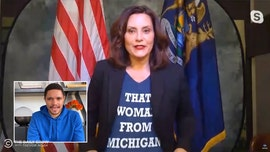 Gov. Gretchen Whitmer wears 'That woman from Michigan' T-shirt in swipe at Trump