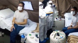 Medics surprise coronavirus patient in Italy with birthday cake, song at army field hospital