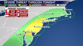 Severe weather threat for 70 million, 'very strong' winds may impact cities where tents set up for coronavirus