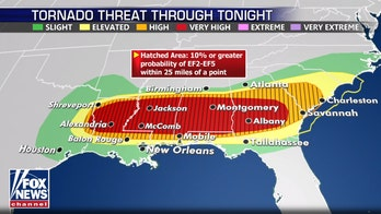 South braces for second round of tornadoes, high winds and flooding with millions at risk