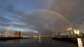 Hope amid coronavirus gloom: Stunning NYC rainbow caught on camera