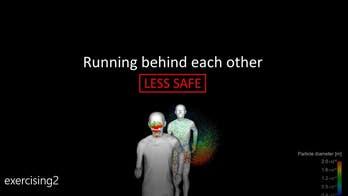 Scary simulation reveals jogging dangers during coronavirus pandemic