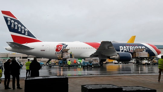 New England Patriots plane returns from China with coronavirus N95 masks