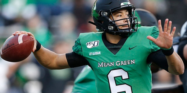 Mason Fine is the best quarterback in North Texas history. (Photo by Bob Levey/Getty Images)