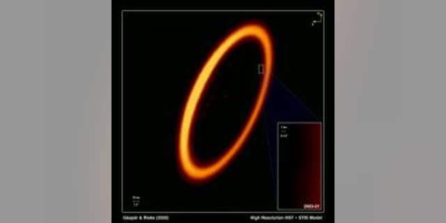 This video simulates what astronomers, studying Hubble Space Telescope observations, consider evidence for the first-ever detection of the aftermath of a titanic planetary collision in another star system. The color-tinted Hubble image on the left is of a vast ring of icy debris encircling the star Fomalhaut, located 25 light-years away. The animated diagram on the right is a simulation of the expanding and fading cloud, based on Hubble observations taken over a period of several years. CREDIT NASA, ESA, and A. Gáspár and G. Rieke (University of Arizona)