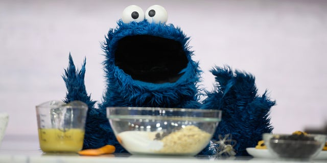 """A May 2019 photo of Cookie Monster at the """"Today"""" show on NBC."""