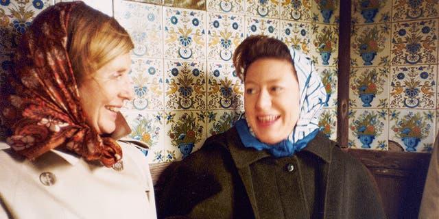 Anne Glenconner (left) with Princess Margaret.