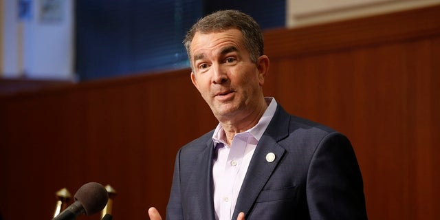Virginia Gov. Ralph Northam gestures during a news conference at the Virginia Capitol. Northam endorsed former Gov. Terry McAuliffe in his 2021 bid to get back into the governor's mansion on Thursday. (AP Photo/Steve Helber)