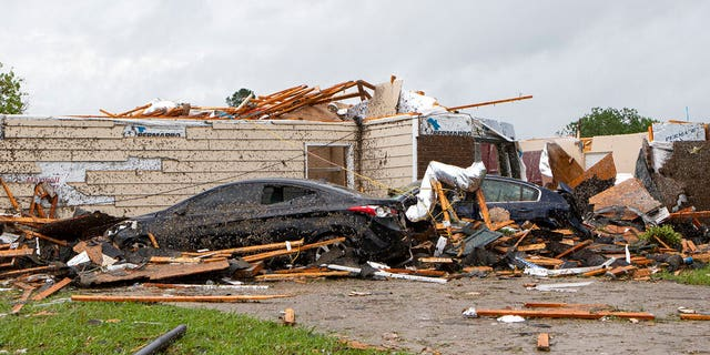 A home had its roof torn off after a tornado ripped through Monroe, La.