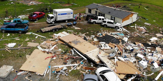 A mobile-home park that saw multiple deaths after a tornado hit over the weekend in Chatsworth, Georgia.
