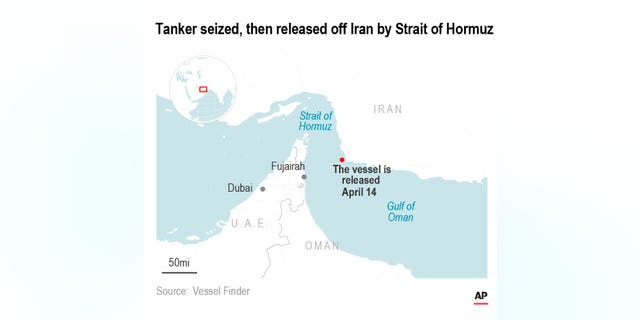 Authorities say armed men boarded a Hong Kong-flagged tanker ship off the coast of Iran near the crucial Strait of Hormuz.