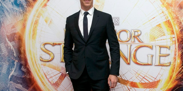 In this Oct. 24, 2016 file photo, Benedict Cumberbatch poses for photographers upon arrival at the launch event of the film 'Doctor Strange' in London.