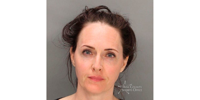 Sara Brady, 40, was charged with misdemeanor trespassing on a closed playground in Meridian, Idaho, last Tuesday. (Ada County Sheriff's Office via AP)