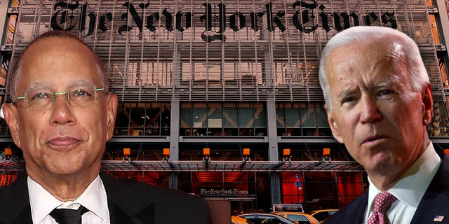 New York Times executive editor Dean Baquet, left, was criticized over the paper's handling of sex-assault accusations against former Vice President Joe Biden.
