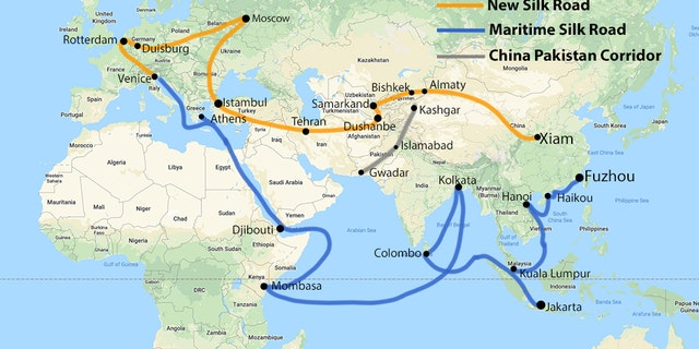 China's planned Belt and Road Initiative.?