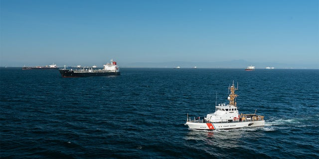 Coast Guard Cutter Narwhal patrols the coast of Southern California, April 23, 2020. (U.S. Coast Guard photo by Petty Officer Third Class Aidan Cooney)