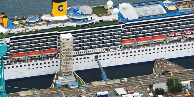 The Costa Atlantica, operated by Costa Cruises, is currently anchored at a port in Nagasaki. Crew have been quarantined to their rooms following an outbreak of COVID-19 that infected nearly 50 workers as of Thursday.