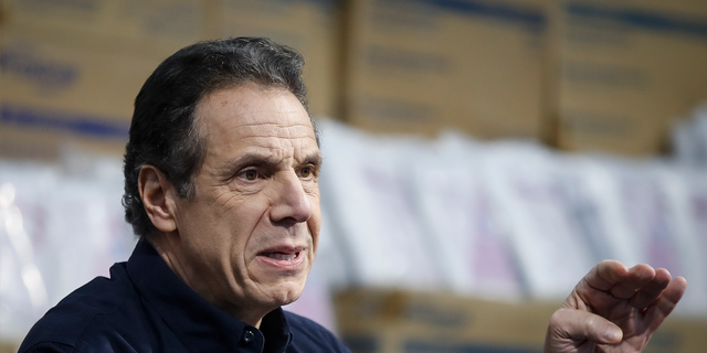 "March 24, 2020: New York Gov. Andrew Cuomo speaks during a news conference in New York. President Donald Trump declared that states could ""call your own shots"" in determining how and when to loosen restrictions on businesses and social gatherings. Clusters of states representing the vast majority of Americans have decided cooperation in dealing with the coronavirus is the better option. (AP Photo/John Minchillo, File)"