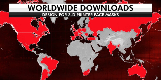 Rowan University's face mask designs have been downloaded more than 41,000 times in nearly 145 countries.