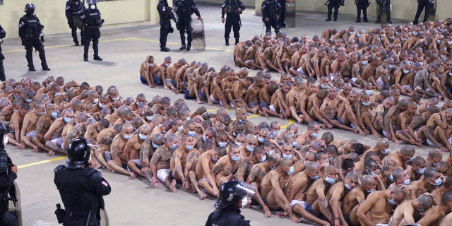 The security operation took place after President Nayib Bukele decreed maximum emergency in prisons housing gang members at the Izalco prison in San Salvador, Saturday, April 25, 2020.