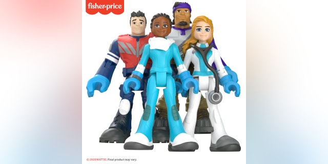 Fisher-Price's #ThankYouHeroes line will consist of 16 action figures representing doctors, nurses, EMTs and delivery drivers. A special-edition 5-pack made for the brand's Little People line will also include a grocery store worker.