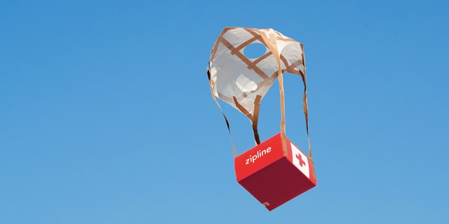 Zipline delivers medical supplies in remote places using unmanned drones.