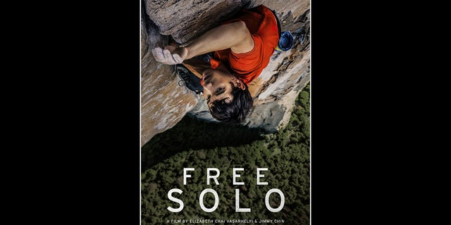 The poster showingAlex Honnold scaling El Capitan in 'Free Solo.'