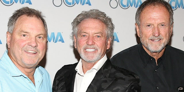 Steve Gatlin, left, Larry Gatlin and Rudy Gatlin of 'The Gatlin Brothers Band' attend the CMA's 60th Anniversary Celebration at Wildhorse Saloon on September 26, 2018, in Nashville, Tenn. (Photo by Terry Wyatt/Getty Images)