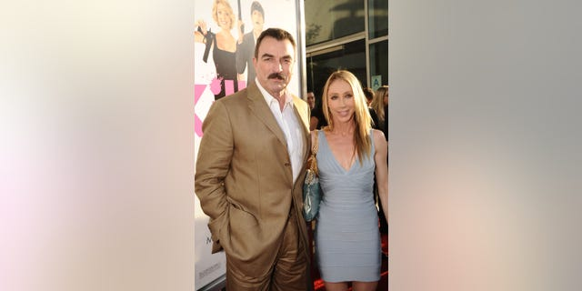 "Actor Tom Selleck and wife Jillie Mack arrives at the Los Angeles premiere of ""Killers"" held at ArcLight Cinemas Cinerama Dome on June 1, 2010 in Hollywood, California."