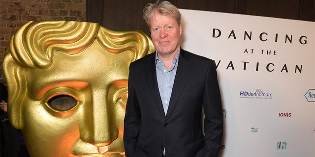 "Charles Spencer, 9th Earl Spencer, attends the UK premiere of ""Dancing At The Vatican"" hosted by HDdennmore at BAFTA on February 5 in London, England."
