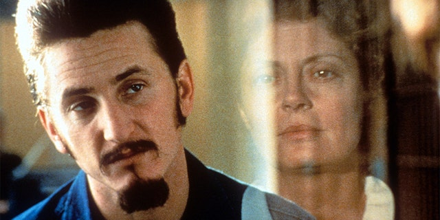 Sean Penn in prison in a scene from the film