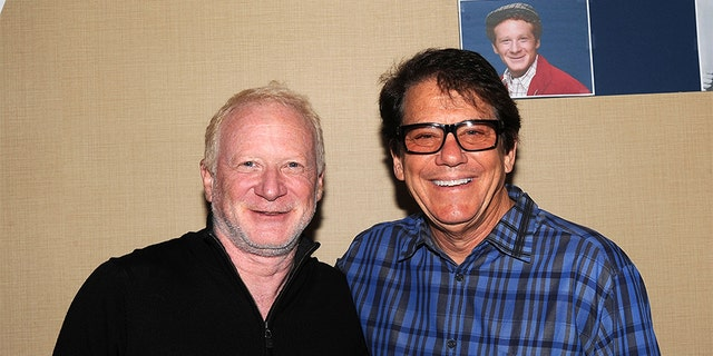 Don Most and Anson Williams of 'Happy Days' attends day 2 of the Chiller Theater Expo at Sheraton Parsippany Hotel on April 25, 2015, in Parsippany, New Jersey.