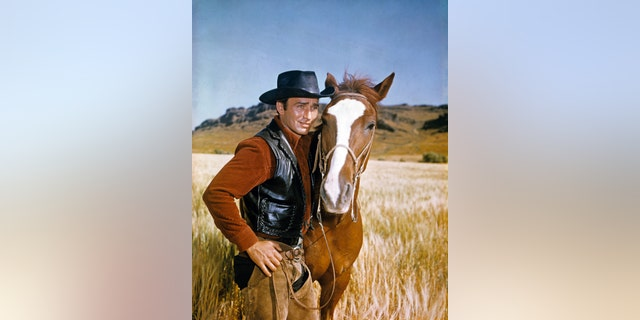 James Drury as he appears in the television show, 'The Virginian.'