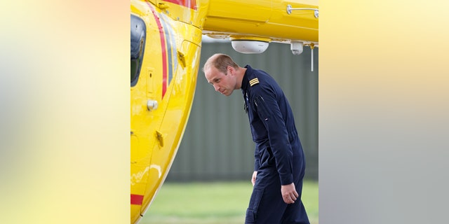 Prince William, Duke of Cambridge attends the opening, by Queen Elizabeth II, of the East Anglian Air Ambulance base at Cambridge Airport on July 13, 2016, in Cambridge, England.