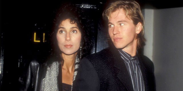 Cher and Val Kilmer dated in the '80s.