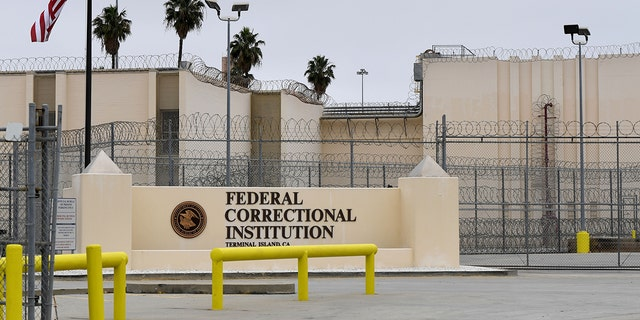 The Terminal Island Federal Correctional Institution in San Pedro, Calif., on April 29, 2020. (Brittany Murray/MediaNews Group/Long Beach Press-Telegram via Getty Images)