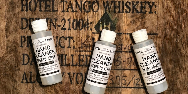 Hotel Tango Distillery sent its sanitizer to over 30 Indiana locations on the frontlines from medical facilities to deployed military units. (Hotel Tango Distillery)