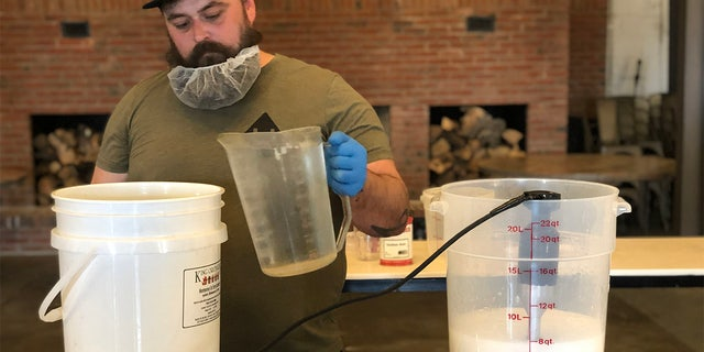 As soon as the coronavirus pandemic hit, Hotel Tango Distillery, the first combat-disabled, veteran-owned distillery in America, stopped making liquor and started making hand sanitizer. (Hotel Tango Distillery)